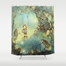 Firefly Forest Shower Curtain