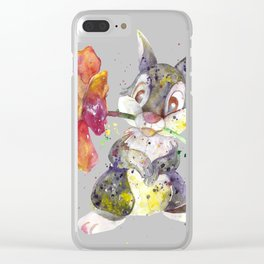 Bunny With flower Clear iPhone Case