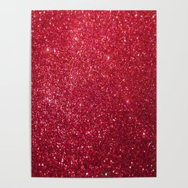Red Glitter Poster
