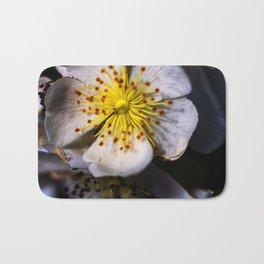 White Blossom Bath Mat
