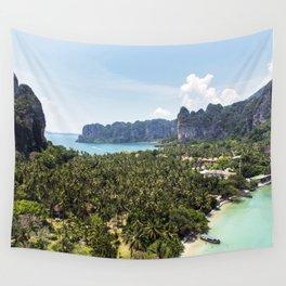 Railay Bay - Rai Leh Beach, Krabi Thailand  -  Tropical Paradise Wall Tapestry
