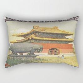 Vintage poster - South Manchuria Railway Rectangular Pillow