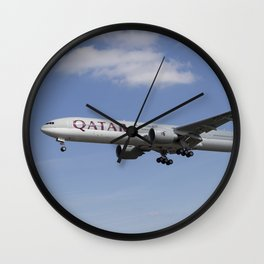 Qatar Airlines Boeing 777 Wall Clock