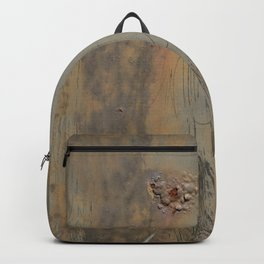 Disgusting Grungy Rusty Wounded Painted Metal Backpack