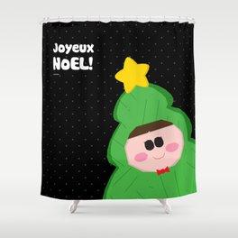Joyeux Noel - Tree Shower Curtain