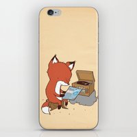 record iPhone & iPod Skins featuring Record Player by hatrobot