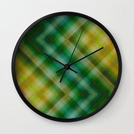 Pattern green no. 7 Wall Clock