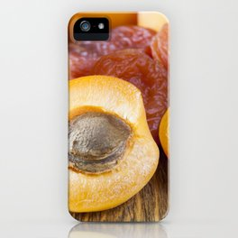 dried and fresh apricots iPhone Case