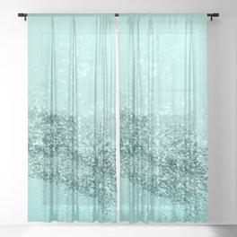 Summer Vibes Glitter #7 #mint #shiny #decor #art #society6 Sheer Curtain