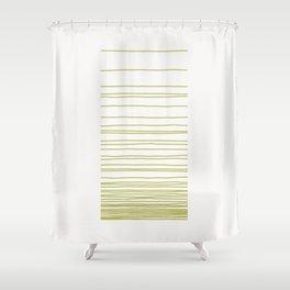Linear Gradation - Lime Shower Curtain