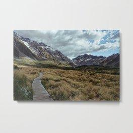 Hooker Valley, Mt Cook National Park Metal Print