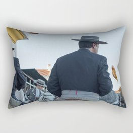 The four horses Rectangular Pillow
