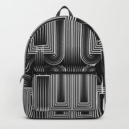 Art Deco 32 . Graffiti black and white Backpack