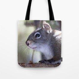 Watercolor Pine Squirrel 06, Deer Mountain, RMNP, Colorado, Is the Coast Clear? Tote Bag