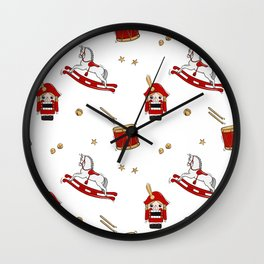 Nutcracker Christmas winter holiday gift Wall Clock