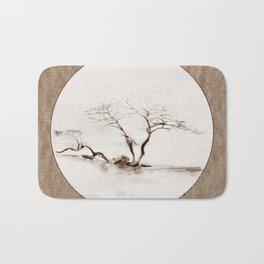 Scots Pine Paper Bag Sepia Bath Mat
