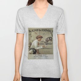 Be Kind To Animals 1 Unisex V-Neck