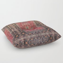 Antique Persian Red Rug Floor Pillow