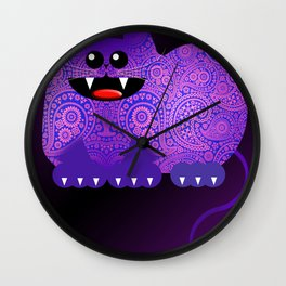 PAISLEY CAT Wall Clock