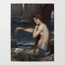 A MERMAID - WATERHOUSE Poster