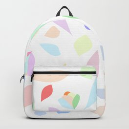 Colorful pastel leaves Backpack