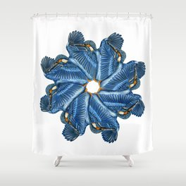 Circling Kingfishers Shower Curtain