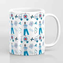 Wellness Health Medical Symbols Doctors and  Nurse Coffee Mug