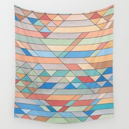 Triangle Pattern no.2 Colorful Wall Tapestry