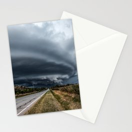 Mothership - Intense Autumn Storm Advances Over Oklahoma Plains Stationery Cards