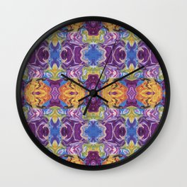 Florid Oasis Wall Clock