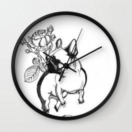 Rosie dog Wall Clock