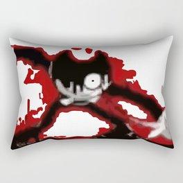 Red Ink Bendy Rectangular Pillow