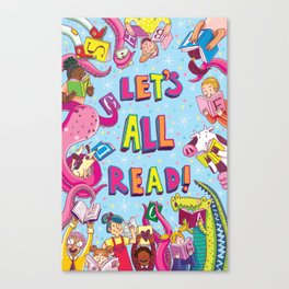 Let's All Read! Canvas Print