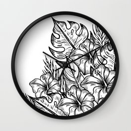 In a Tropical Junge Wall Clock