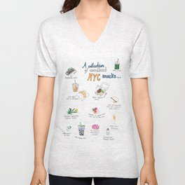 A Collection of Excellent NYC Snacks Unisex V-Neck