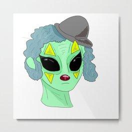Clown Alien?? Metal Print