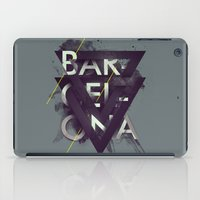 barcelona iPad Cases featuring Barcelona by Giga Kobidze