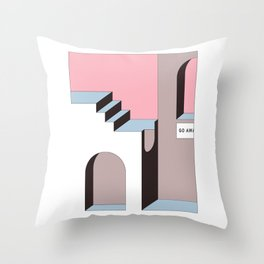 Go Away - At least try. Throw Pillow