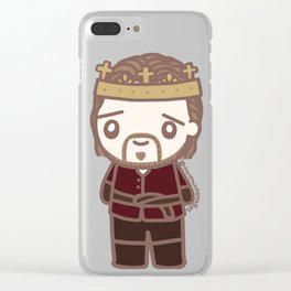 Tom as Henry V Clear iPhone Case