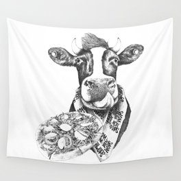 Picky Moo Wall Tapestry