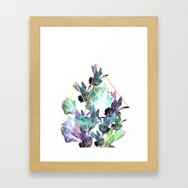 neon flowers Framed Art Print