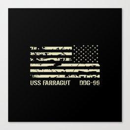 USS Farragut Canvas Print