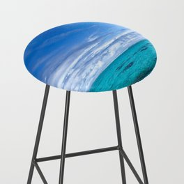 South Pacific Crystal Ocean Dreamscape with Boat Bar Stool