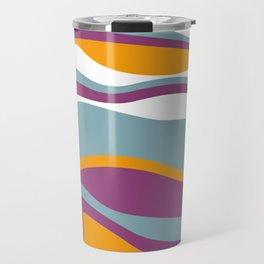 Pesto Blue, purple and orange Travel Mug