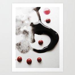 Paint Blots 3 Art Print