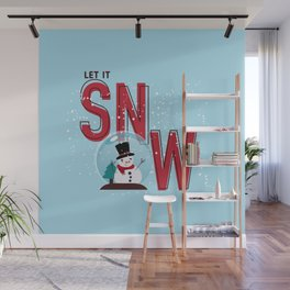 Let it Snow!!! Wall Mural