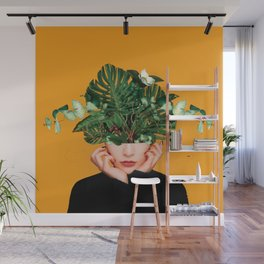 Lady Flowers || Wall Mural