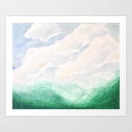 Green Valley Oil Landscape Art Print