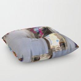 Greece Santorini Island Floor Pillow