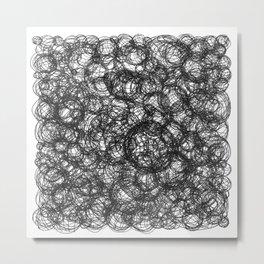 Black Ink on White Metal Print